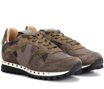 Garavani Sneakers aus Veloursleder