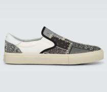 Bedruckte Slip-On Sneakers