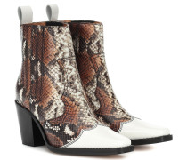 Ankle Boots Western Mix aus Leder