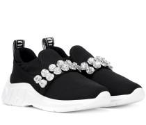 Verzierte Sneakers aus Stretch-Strick