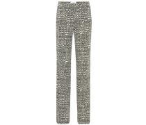 Bedruckte Hose aus Wolle