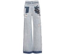 Distressed Jeans aus Baumwolle