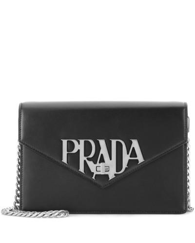 Pick Ein Besten Zum Verkauf Auslauf Prada Damen Schultertasche aus Leder Klassische Online 1t4QS1cjH