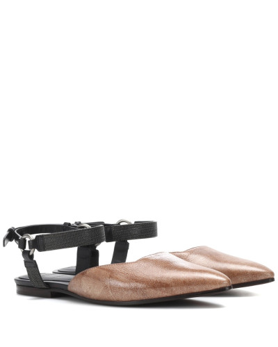 Brunello Cucinelli Damen Sandalen aus Leder Spielraum Mode-Stil YIGYIGL8Rs