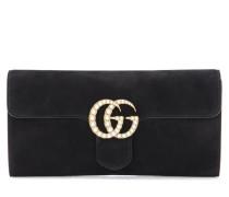 Clutch GG Marmont aus Veloursleder