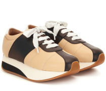 Sneakers Big Foot aus Leder