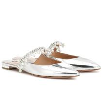 Slippers Exquisite aus Lackleder