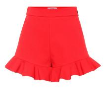 Shorts aus Crêpe
