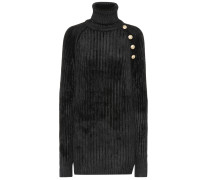 Langer Pullover aus Chenille
