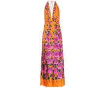 Bedrucktes Kleid aus Seiden-Twill