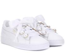 Sneakers Basket Bling aus Leder