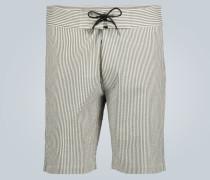 Straight-Leg Shorts aus Leinen