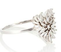 Ring Mini Heart aus 18kt Weißgold mit Diamanten