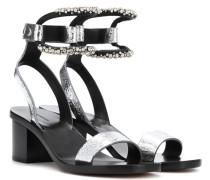 Sandalen Jelipa aus Metallic-Leder