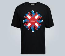T-Shirt mit Vampir-Print