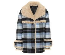 Mantel aus Schurwolle mit Shearling