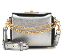 Alexander McQueen Schultertasche Box 16 aus Metallic-Leder