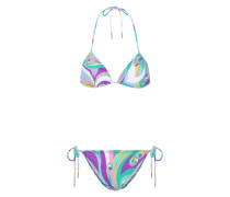 Bedruckter Triangel-Bikini