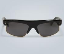 Rechteckige Sonnenbrille mit Acetat