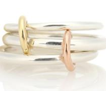 Ring Daphne aus Sterlingsilber, 18kt Gelb- und Roségold
