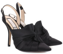 Slingback-Pumps aus Satin
