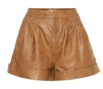 High-Rise Shorts Abot aus Leder
