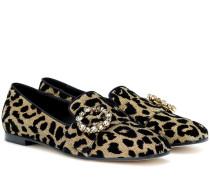 Loafers mit Kristallen