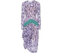 Devoré-Kleid mit Spitze