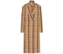 Karierter Mantel aus Wolle