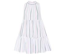 Gestreiftes Minikleid aus Baumwolle