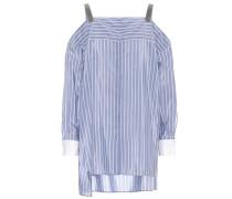 Gestreifte Bluse aus Baumwoll-Seidengemisch
