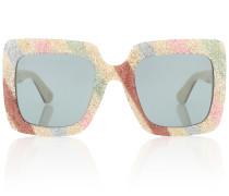 Oversize-Sonnenbrille mit Glitter