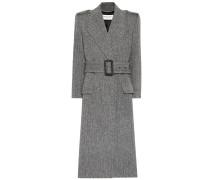Mantel aus Wolle mit Fischgrätmuster