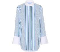 Gesteifte Bluse aus Baumwolle
