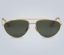 Aviator-Sonnenbrille mit Doppelsteg