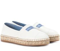 Espadrille-Sandalen aus Leder