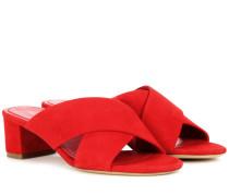 Sandalen Crossover aus Veloursleder