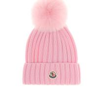 Mütze aus Wolle mit Pelz