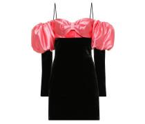 Off-Shoulder-Minikleid aus Samt