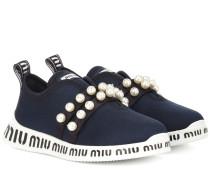Sneakers mit Kunstperlen