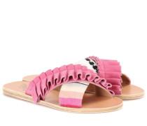 x Ancient Greek Sandals Sandalen Thais Frills