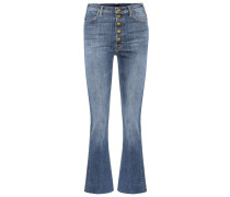 Cropped Jeans Hustler Snap Down