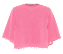 Cropped-Pullover aus Cashmere