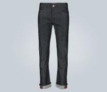 Jeans mit Webstreifen
