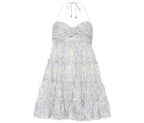Neckholder Minikleid aus Leinen und Baumwolle