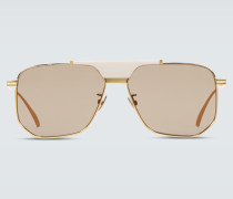 Aviator-Sonnenbrille aus Metall