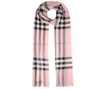 Karierter Schal Giant aus Wolle und Seide