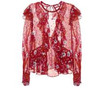 Bluse Muster aus einem Seidengemisch