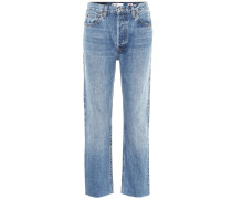 High-Rise Jeans Stove Pipe