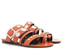 Verzierte Sandalen Dani aus Leder